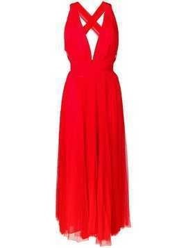 Maria Lucia Hohan midi tulle dress - Red