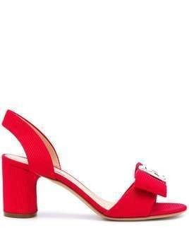 Casadei bow slingback sandals - Red