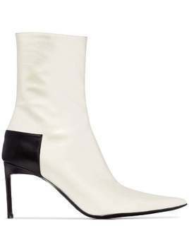 Haider Ackermann pointed toe 60mm boots - White