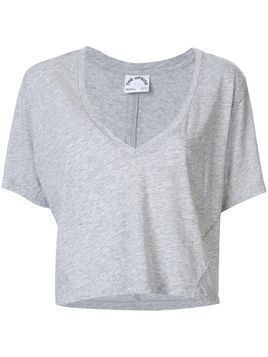 The Upside v-neck crop top - Grey