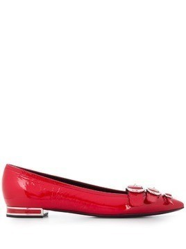 Casadei pointed ballerina shoes - Red