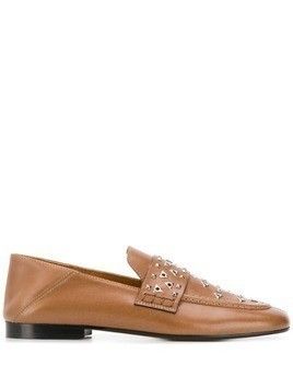 Isabel Marant Feevon studded loafers - Brown