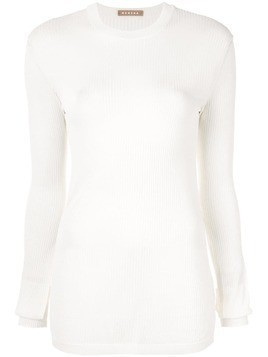 Nehera long-sleeve fitted sweater - White