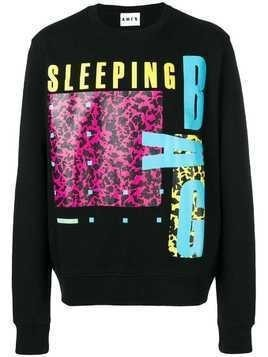 Amen Sleeping Bag print sweatshirt - Black