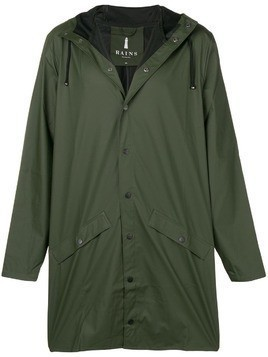 Rains water-resistant hooded coat - Green