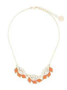 Anton Heunis crystal embellished necklace - Orange