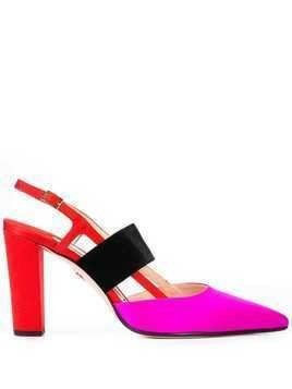 Andrea Gomez Grace colour block sandals - Red