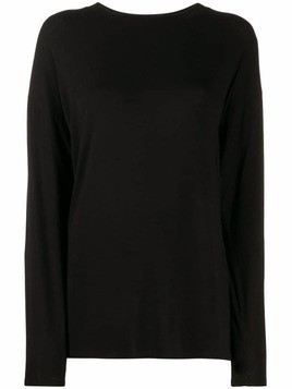 Mm6 Maison Margiela long-sleeved T-shirt - Black