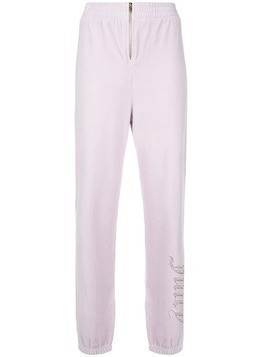 Juicy Couture Swarovski personalisable velour track pants - Pink & Purple