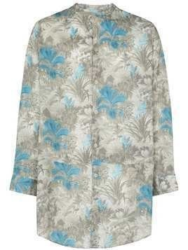 By Walid Lollo floral print shirt - Blue