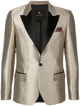 Lords And Fools ivory gold blazer