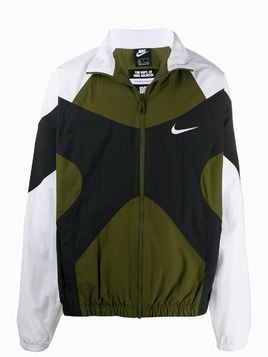 Nike panelled sports jacket - Green
