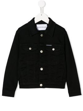 Calvin Klein Kids rear logo denim jacket - Black