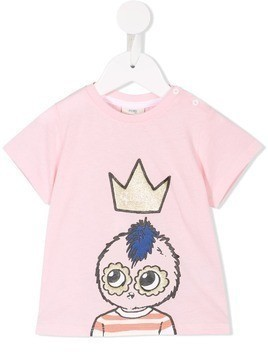 Fendi Kids printed T-shirt - Pink