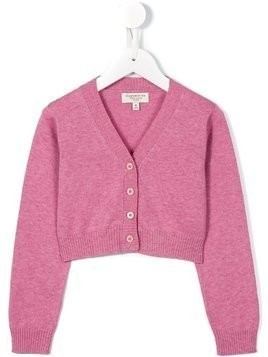 Cashmirino V-neck cardigan - Pink & Purple