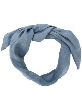 Cult Gaia chambray head scarf - Blue
