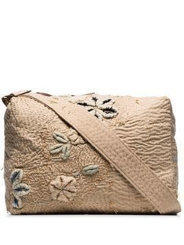 By Walid tapestry embroidered messenger bag - NEUTRALS