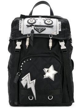 Prada Prada robot nylon backpack - Black