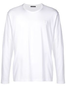 Acne Studios Nash L Face long-sleeved T-shirt - White