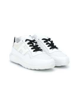 Hogan Kids lace-up sneakers - White