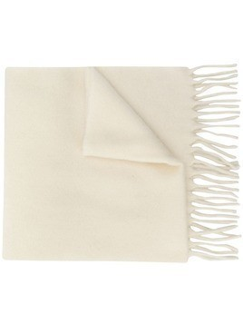 Etudes knitted fringed-edge scarf - White