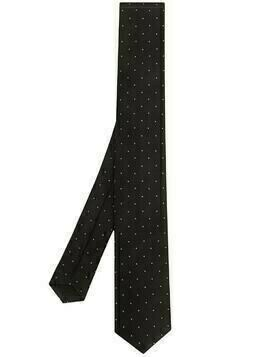 BOSS polka dot print tie - Black