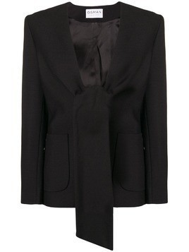Osman Spencer tie-front jacket - Black