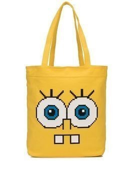 Mostly Heard Rarely Seen 8-Bit Snaggle Teeth tote - Yellow