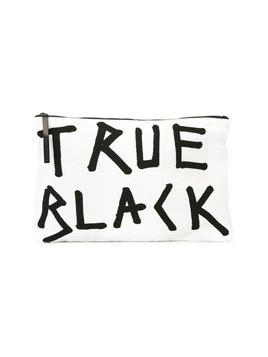 Ann Demeulemeester 'true black' flat clutch bag - White