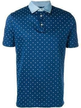 Borrelli printed polo shirt - Blue