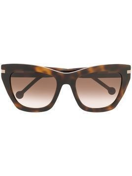 Carolina Herrera cat eye sunglasses - Brown