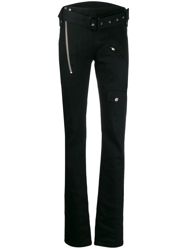 Zilver Biker Trousers in Pre-Consumer Recycled Denim - Black