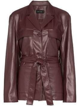 Low Classic belted faux leather jacket - Red