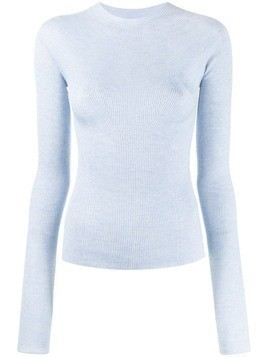Lanvin ribbed slim fit top - Blue