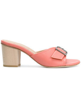 Humanoid buckled mules - Pink