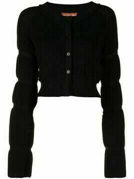 Altuzarra tiered sleeve cardigan - Black