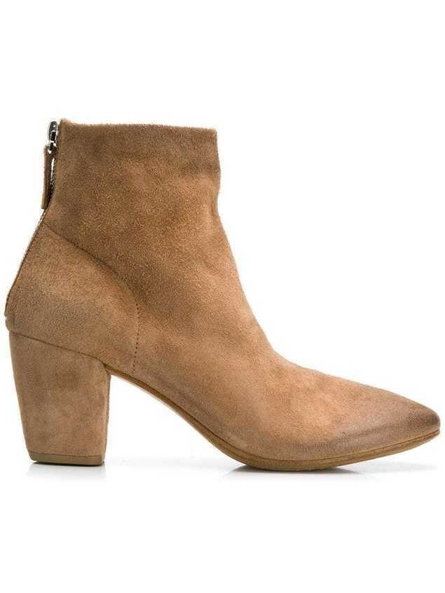 Marsèll high block heel boots - NEUTRALS