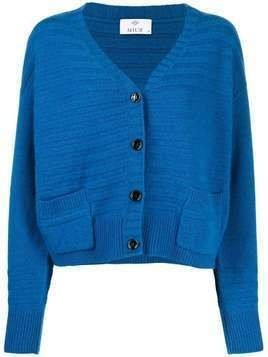Allude ribbed knitted cardigan - Blue
