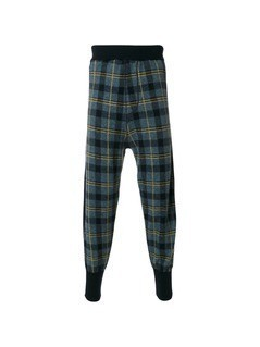 Stella McCartney checked drop-crotch trousers - Unavailable