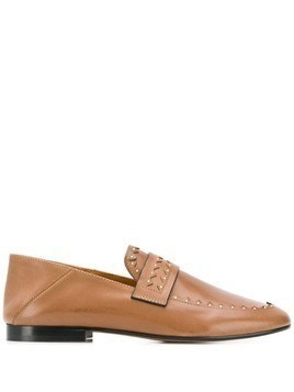Isabel Marant Festee studded loafers - Brown