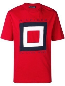 Hilfiger Collection logo printed T-shirt - Red