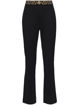 Versace Greca-border flared track pants - Black