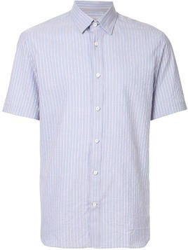 Gieves & Hawkes striped short-sleeve shirt - Blue