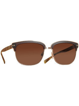 Burberry Textured Front Square Frame Sunglasses - Brown