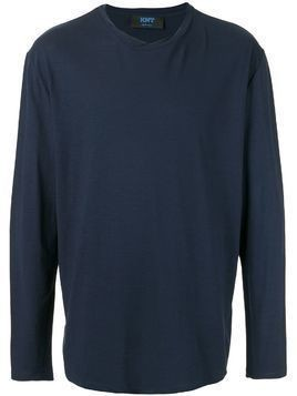 Kiton roll stiched long-sleeved T-shirt - Blue