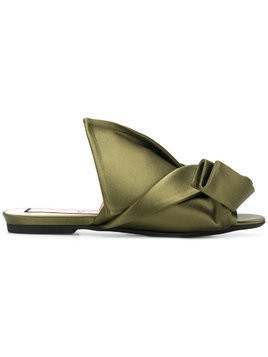 Nº21 abstract bow mules - Green