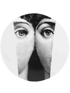Fornasetti faces print plate - White