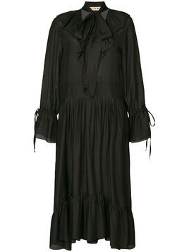 Flow The Label pleated shirt dress - Black