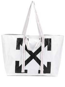 Off-White arrow logo shopper tote