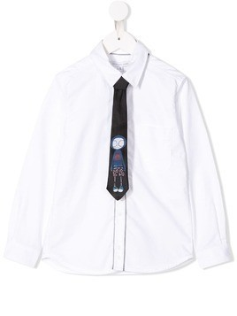 Little Marc Jacobs Mr Marc tie shirt - White